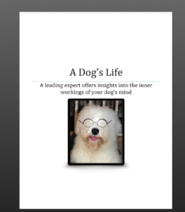 front cover of A Dog's Life ebook