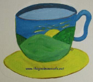 Colorful coffeecup painting