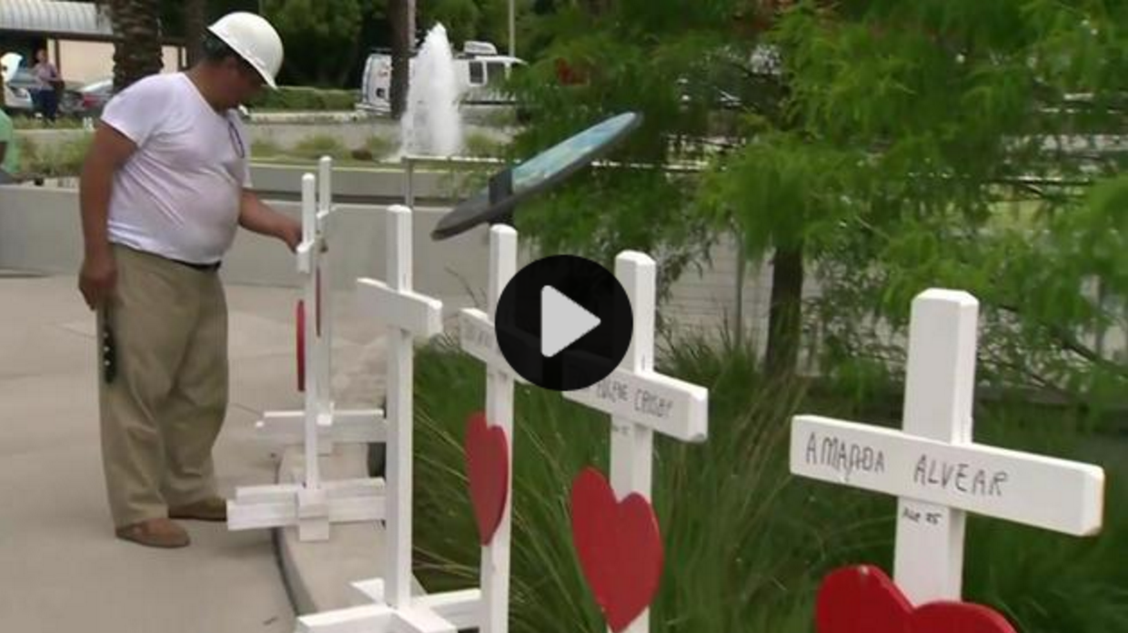 MAN DRIVES 1,200 MILES TO DELIVER CROSSES FOR ORLANDO VICTIMS