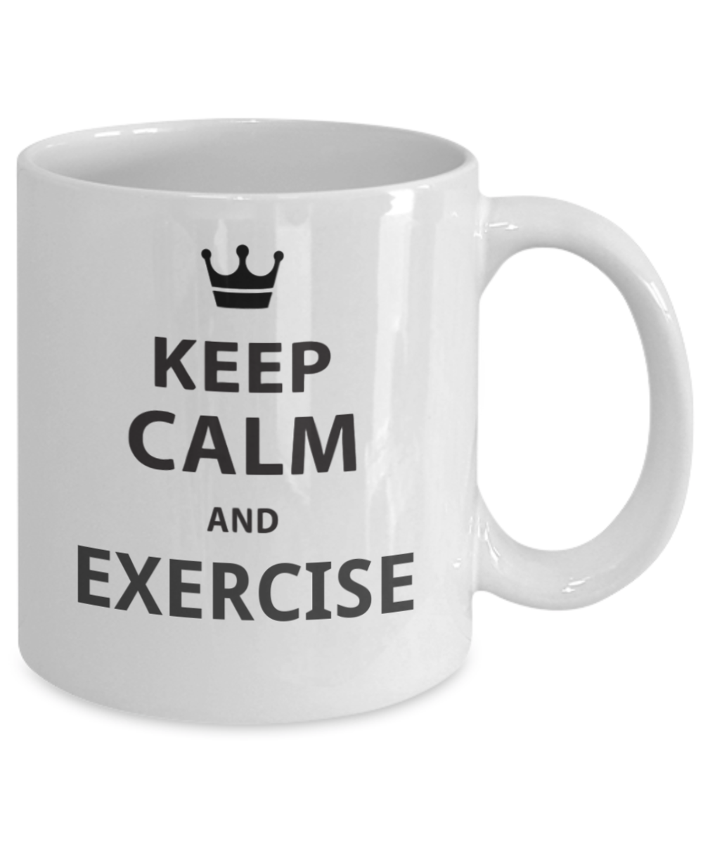 Click on image to get your own keep calm and exercise mug